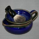 LadySea Creations Shaving Pottery - one- and two-piece scuttles, bowls, and mugs, custom made