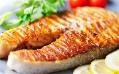 deliciously grilled salmon - part of any mediterraned diet menu and shopping list