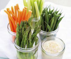 grønnsaker dipp snacks sunn