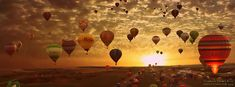 Balloons Sunset View Facebook Cover