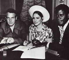 Paul Newman, Barbra Streisand and Sidney Poitier