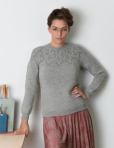 Ravelry: Ella Solo pattern by Lene Holme Samsøe Baby Knitting Patterns, Lace Knitting, Knit Crochet, Knitting Sweaters, Crochet Patterns, Icelandic Sweaters, Stockinette, Pullover Sweaters, Knitwear