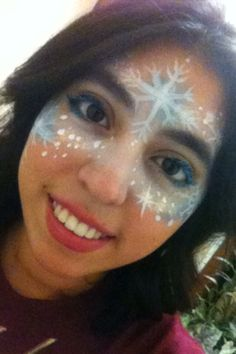 Frozen inspired face paint by me!!