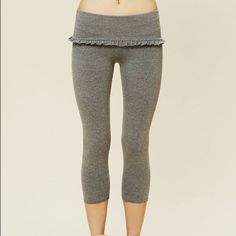 Free People Frill Fold Over Capri Legging NOT FOR SALE. YET.....FP Fold over leggings -Not sure if I'm letting these go yet. These are a maybe. Thought I'd share these for now. I have both colors. Free People Other