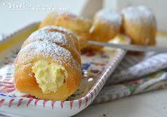 Cannoli fritti con ricotta e crema pasticcera, golosi buonissimi si sciolgono in bocca, un ripieno cremoso avvolto da una pasta brioche sofficissima