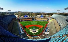 THINK BLUE: Last of the freeway series games here at Chavez Ravine. #dodgersbaseball #angelsbaseball #dodgerstadium #cityoflosangeles #losangeles #itfdb #ltbu #freewayseries2016 by grumpyjunglist