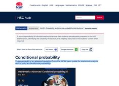 Conditional probability, NESA topic guide question  Video unpacking an adapted question from the NESA topic guide for statistical analysis which looks at conditional probability Math Resources, Mathematics, Conditional Probability, No Response, File Share, This Or That Questions, Creative Art, Language, Teacher