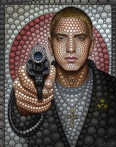 Celebrity Portraits Made from Thousands of Circles (6 pieces) - My Modern Metropolis
