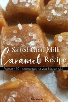 Salted Goat Milk Caramel is the BEST treat! I'll walk you through the process of making your own with this ebook. #homemade #homemadehousehold #ebook #goatmilk #caramel #yummy