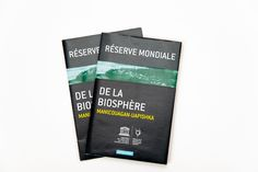 Corporate flyer for the Réserve Mondiale de la Biosphère Manicouagan-Uapishka. The client provided the colour chart, texts and photos. Colour Chart, Color, Corporate Flyer, Layout Design, Texts, Photoshop, Graphic Design, Colour, Page Layout