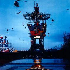Can you still discern the Eiffel Tower? :-) Alain Bublex, Plug-in City (2000) – Expérience monumentale, 2003.