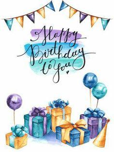 Happy Birthday Painting, Happy Birthday Wallpaper, Happy Birthday Signs, Birthday Quotes, Happy Birthday Didi, Boss Birthday, Happy Birthday Balloons, Happy Birthday Wishes Cards, Birthday Wishes And Images