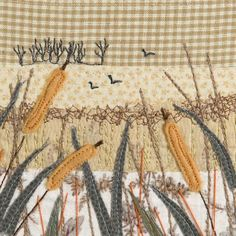 Alison is a Devon based textile artist inspired by the coast and countryside. Free Motion Embroidery, Embroidery Patterns Free, Embroidery Applique, Machine Embroidery, Bag Patterns, Fabric Art, Fabric Crafts, Sewing Crafts, Fabric Books