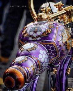 Custom Paint Motorcycle, Motorcycle Tank, Custom Bobber, Motorcycle Leather, Custom Bikes, Custom Harleys, Moto Fest, Harley Davidson Images, Old School Vans