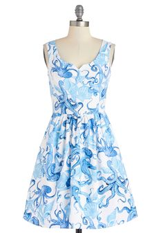 Modcloth, stop having so many great dresses! Tentacle-y Speaking Dress. Fit-and-flare dress.  #modcloth