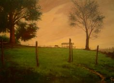 """Claudio Furlan - """"Entardecer no sítio"""" - Caçapava - SP. / pintura ao ar livre - """"plein air painting""""."""