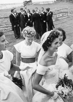 September 12,1953 at Hammersmith Farm in Newport, Rhode Island. I know their huge and old fashioned but I love the bridesmaids dresses!