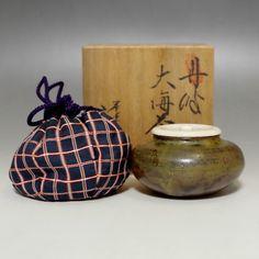 Taikai Chaire - Vintage Japanese Tamba Pottery Tea Caddy w Tomobako #1931 - CHANOYU