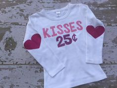 Glitter Kisses Longsleeve Shirt with Glitter Heart Elbow Patches