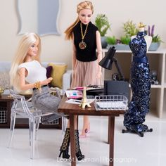 Office Girl Barbies