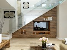Room Under Stairs Room Under Staircase Living Room Under Stairs Brilliant Ideas For Utilizing The Space Under The Staircase Room Under Staircase Under Stairs Powder Room Ideas Staircase Storage, House Staircase, Stair Storage, Stairs With Storage, Staircases, Home Stairs Design, Interior Stairs, Home Interior Design, House Design