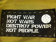 CRASS Patch  Fight War Not Wars by foxalive on Etsy, $2.00