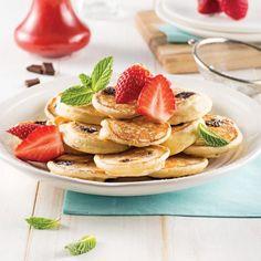 Bagels au miel et raisins secs - 5 ingredients 15 minutes Mini Pancakes, Waffles, Bagel Bar, Brunch Bar, Halo Halo, Raisin, Fondue, Yogurt, Smoothies