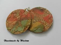Batik Fabric Earrings. $20.00, via Etsy