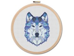Geometric Wolf Counted Cross stitch Pattern PDF by KHANNAandILAN