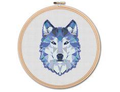 Geometric Wolf Counted Cross stitch Pattern PDF by KHANNAandILAN