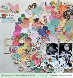 You 2 Are Loved layout by @Paige Hereford Hereford Evans #Valentines #scrapbooking