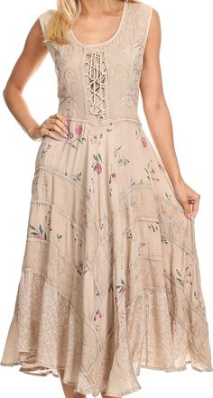 Sakkas Garden Goddess Corset Style Dress ** See this awesome image  : Trendy plus size clothing