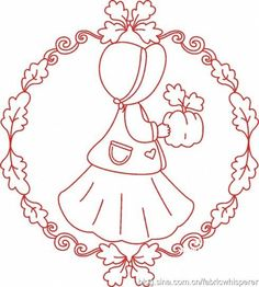 Imágenes RedWork Baby Embroidery, Embroidery Needles, Embroidery Designs, Cross Stitch Embroidery, Machine Embroidery, Pyrography Patterns, Types Of Stitches, Girls Quilts, Applique Patterns