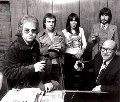 Elton John, Bernie Taupin, Nigel Olsson, Steve Brown and Dick James - 1970