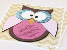 Editable 5x5  Night Owl Party Invitation  by DelightfulOrder, $10.00