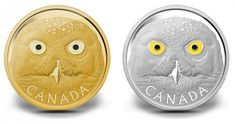 2014 Canadian Snowy Owl Gold and Silver Coins