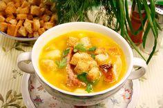 Быстрый гороховый суп! Ингредиенты: Копченые ребра или копченая куриная грудка…