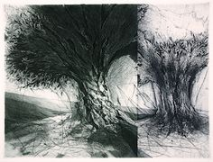 Glass Factory Road by Jake Muirhead  Etching