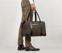 Cherchbi Blake Overnight bag, brown Herdwyck tweed