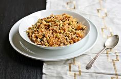 Versatile Vegetarian Kitchen: Simple Edamame and Greens Rice