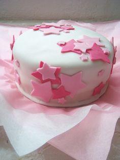 Pink Star Cake