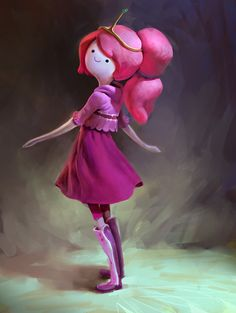 Princess Bubblegum , Mike Azevedo on ArtStation at http://www.artstation.com/artwork/princess-bubblegum-f34e3887-5a54-43ac-abdd-6fef14f4e705