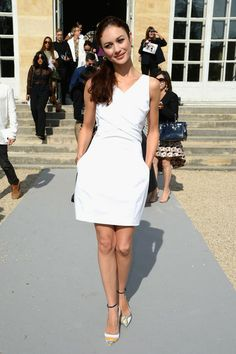 Olga Kurylenko - PFW: Arrivals at Christian Dior