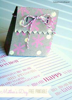 Mother's Day Printable | TodaysCreativeBlog.net