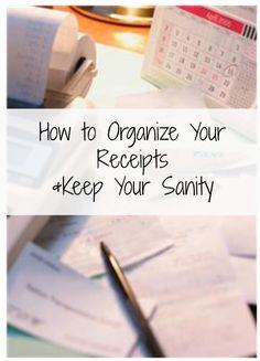 How to Organize Your Receipts http://www.debtfreespending.com/organize-receipts/