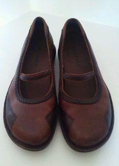 Merrell Tetra Sprite MJ Women 8 Saddle Brown Leather Mary Jane Walking Shoe #Merrell #MaryJanes #Casual