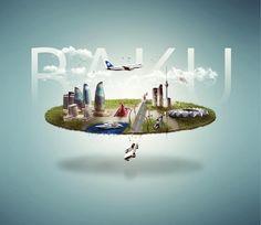 The Source Of Inspiration Baku City, Graphic Design, 3d Design, World, Building, Illustration, Trust, Posters, Interaction Design