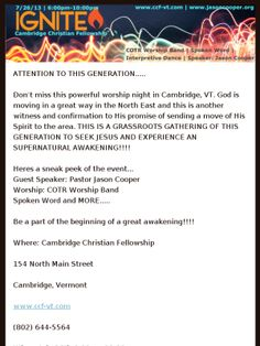 Grassroots Gathering!!! Ignite Worship Night!! Details Inside!!! Check out this Mad Mimi newsletter
