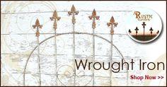 Wrought Iron pieces garden antique new flower planters fencing gates ar Stone Planters, Urn Planters, Flower Planters, Antique Ladder, Garden Catalogs, Iron Furniture, Rustic Gardens, Garden Gates, Country Primitive