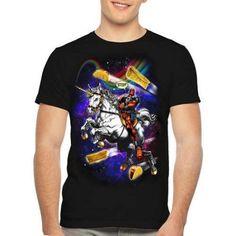 Marvel Men's Deadpool Taco Horse Short Sleeve Graphic Tee, Size: Medium, Black